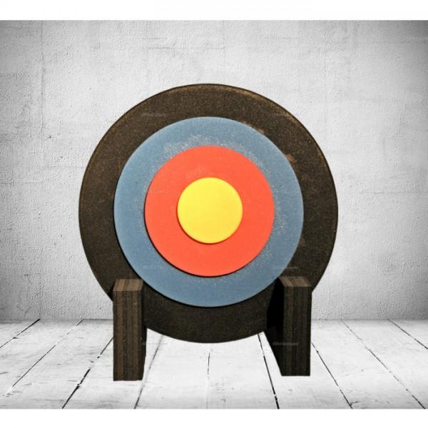 Zielscheibe rund 60x7cm mit Ständer und Auflage - bis 45 lbs