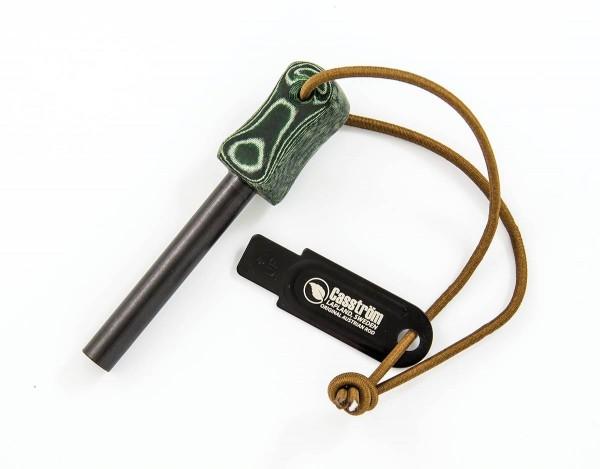 Fire Starter Feuerstarter Micarta grün