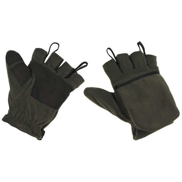 Handschuhe mit umklappbarer Kappe