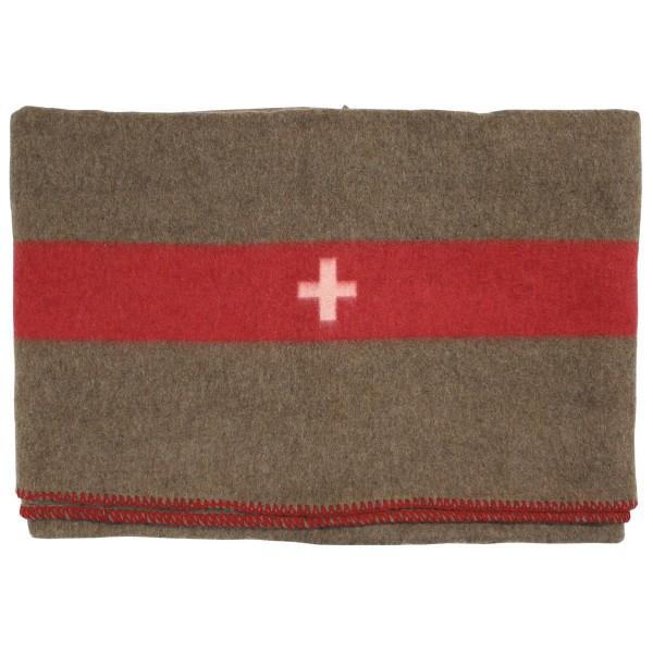 Schweizer Wolldecke, braun