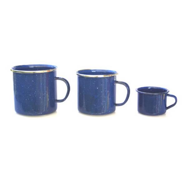 Emaille Geschirr, blau