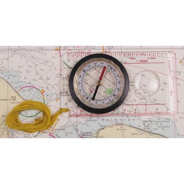 Karten-Kompass transparent