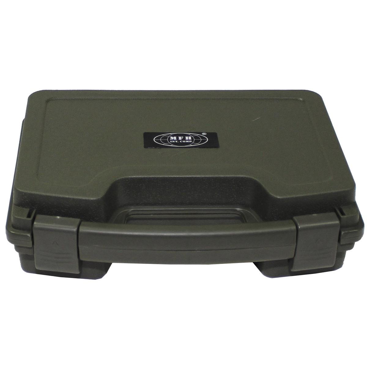 Pistolen Waffen Koffer Taschen Kunststoff gefüttert abschliessbar NEU !