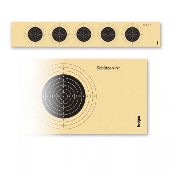 Luftgewehr-Scheibenstreifen mit 5 Scheibenbildern, 1000 Stück