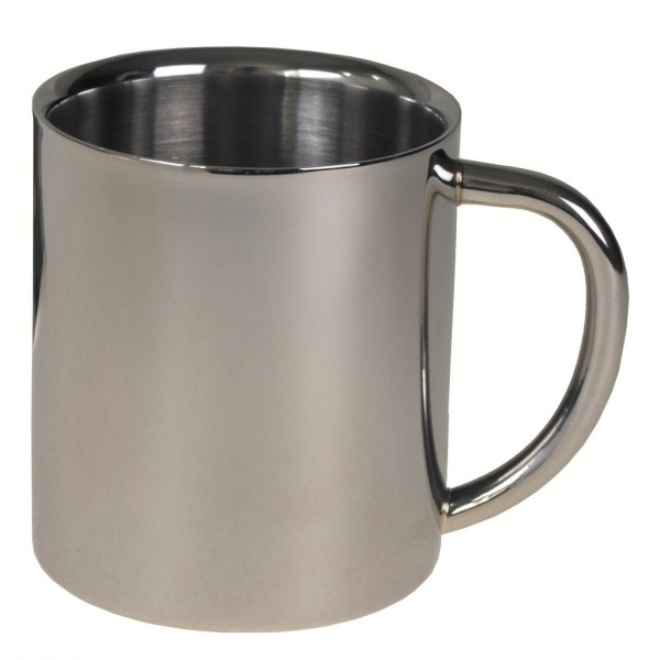 Kaffeetasse Thermo Edelstahl 250ml doppelwandig