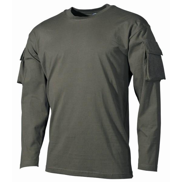 US Shirt, langarm, oliv