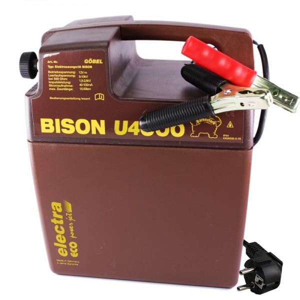 BISON U 4000 9/12 Volt mit Netzvorsatzgerät für 230 Volt Betrieb