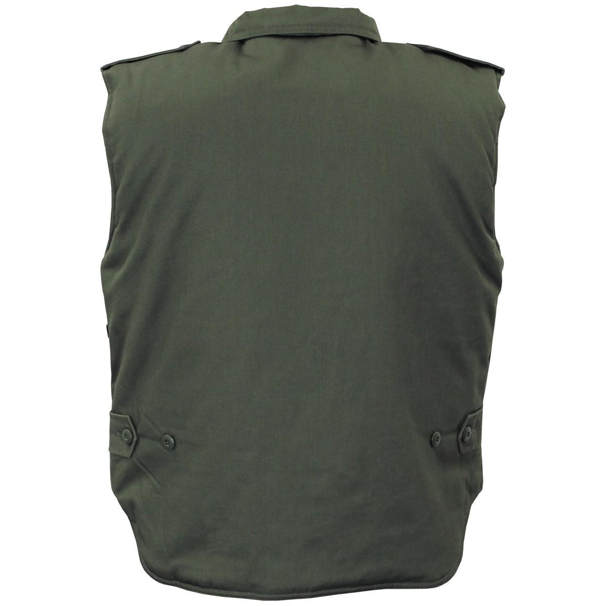Ranger Oliv gef/üttert mit vielen Taschen MFH US Steppweste