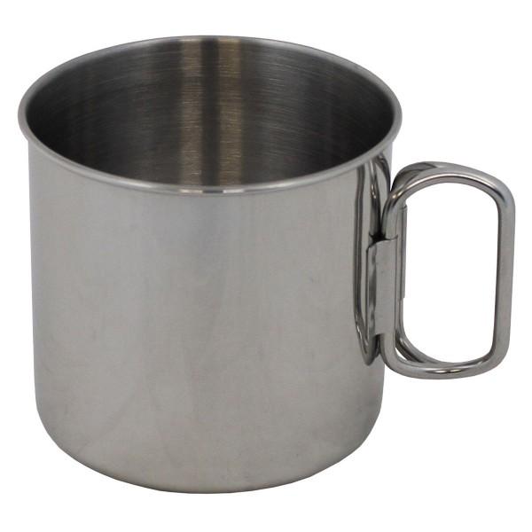 Kaffeetasse Edelstahl 450ml Klappgriffe