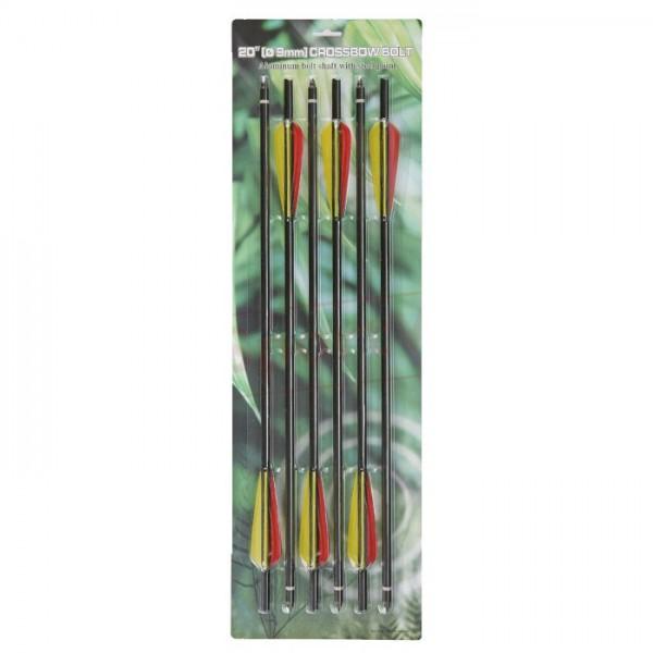 Armbrustbolzen Aluminium 14-20 Zoll, 6er Pack